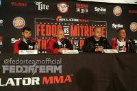 Федор Емельяненко заявил, что у него не было проблем с допинг-контролем перед боем с Митрионом