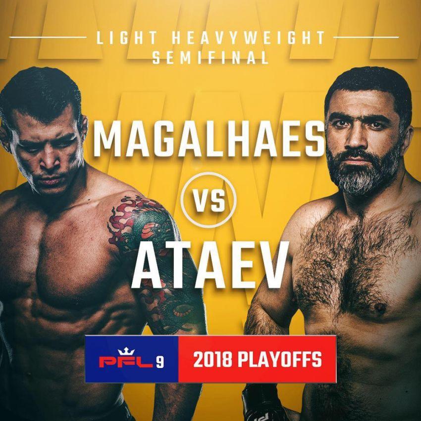 Результаты турнира PFL 9: Винни Магальяеш - Бозигит Атаев