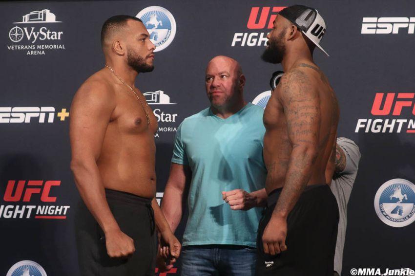 Видео боя Родриго Насименто - Донтейл Мэйес UFC on ESPN 8