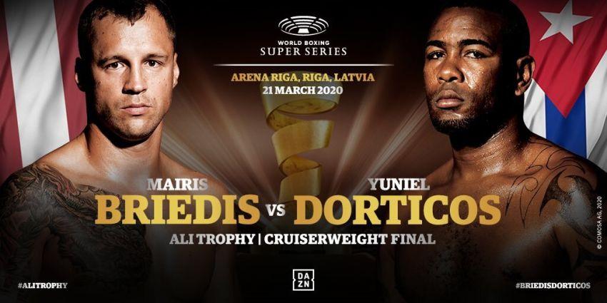 Официально: Майрис Бриедис встретится с Юниером Дортикосом в финале Всемирной боксерской суперсерии 21 марта