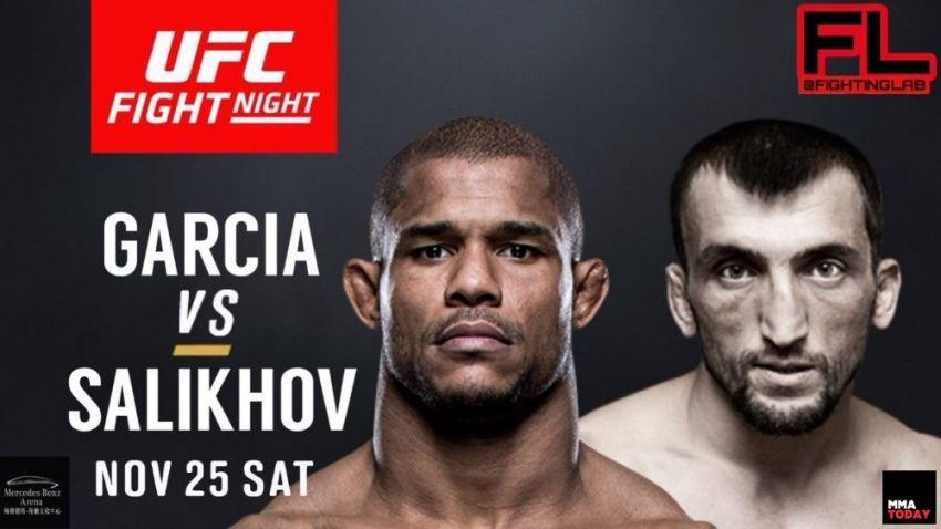 Видео боя Муслим Салихов - Алекс Гарсия UFC Fight Night 122