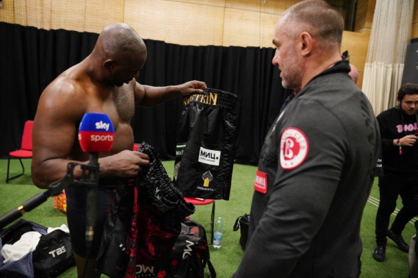 Диллиан Уайт пожалел о том, что предложил Поветкину обменяться боксерскими трусами