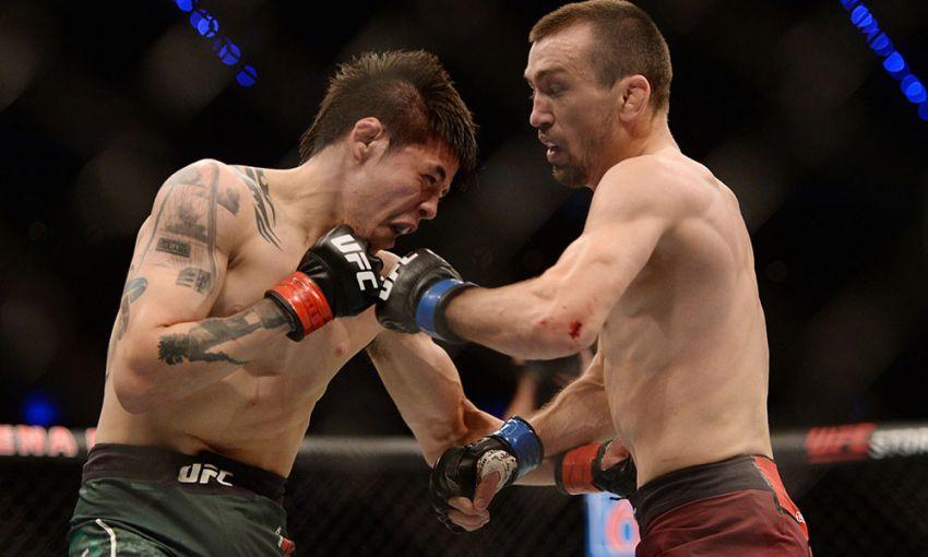 Брэндон Морено считает, что выиграл два раунда боя с Аскаром Аскаровым
