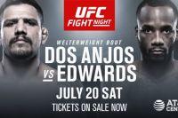 Файткард турнира UFC on ESPN 4: Рафаэль Дос Аньос - Леон Эдвардс