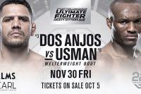 Прямая трансляция The Ultimate Fighter 28 Finale: Рафаэль Дос Аньос – Камару Усман