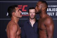 Церемония взвешивания турнира UFC on ESPN 4: Рафаэль Дос Аньос - Леон Эдвардс