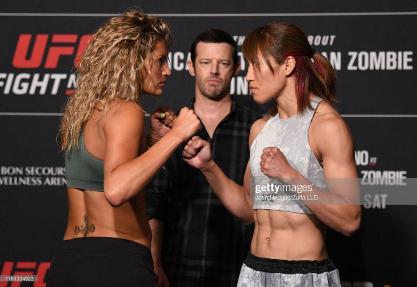 Видео боя Эшли Йодер - Сиюри Кондо UFC Fight Night 154