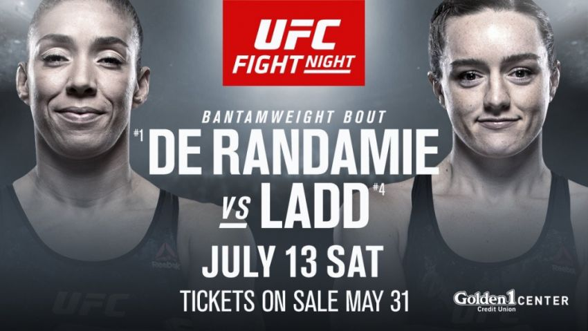 Прямая трансляция UFC on ESPN+ 13: Жермейн Де Рандами - Аспен Лэдд, Юрайа Фэйбер - Рики Симон
