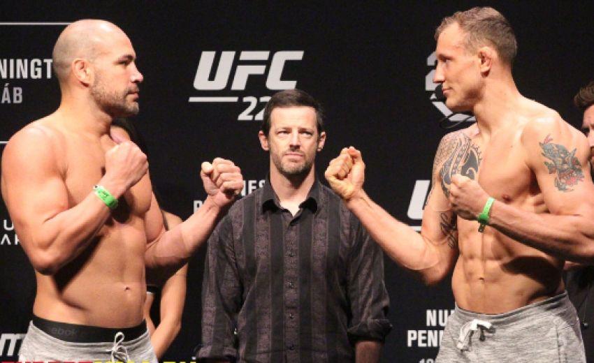 Видео боя Талес Лейтс - Джек Херманссон UFC 224