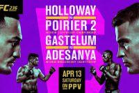 Файткард турнира UFC 236: Макс Холлоуэй - Дастин Порье 2