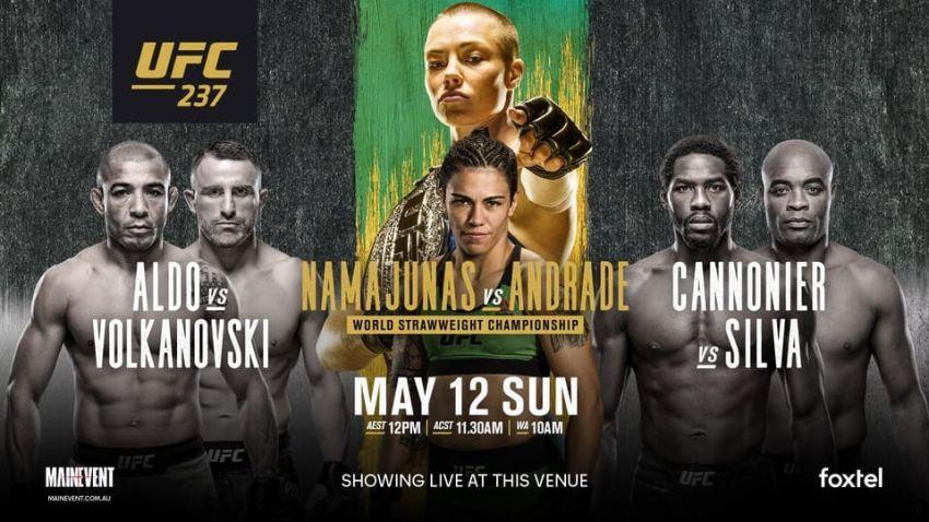 Результаты турнира UFC 237: Роуз Намаюнас - Джессика Андраде