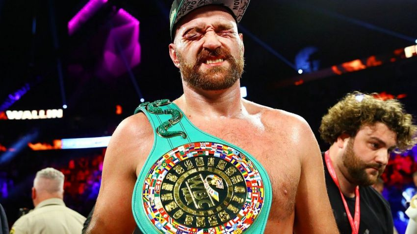 """Тайсон Фьюри поблагодарил WBC за """"прекрасный"""" титул, завоеванный в бою с Валлином"""