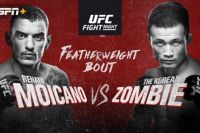 "Файткард турнира UFC Fight Night 154: Ренато Мойкано - ""Корейский Зомби"""