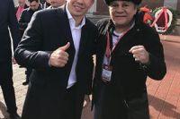 Кадр дня: Геннадий Головкин и Роберто Дюран в Сочи